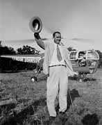 Democrats Photos - Lyndon Johnson Campaigning by Everett