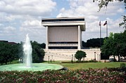 Lyndon Johnson Presidency Framed Prints - Lyndon Johnson Library And Museum Framed Print by Everett