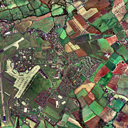 Raf Prints - Lyneham, Wiltshire, Uk, Aerial Photograph Print by Getmapping Plc