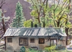 Plein Air Originals - Lynnes Cabin by Donald Maier