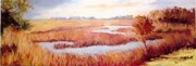 Marsh Scene Paintings - Lynnes Marsh by Patricia Huff