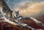 Giclee Mixed Media - Lynx Spirit by Carol Cavalaris