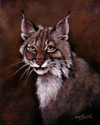 Lynx Painting Posters - Lynx Poster by Theresa Jefferson
