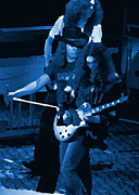 Concert Photos Art - Lynyrd Skynyrd Rock Winterland Blue by Ben Upham