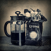 Coffee Pot Framed Prints - Lyons Traditional Coffee Framed Print by Ian Barber