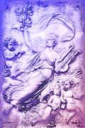 Angel Digital Art - Lyre woman and Cherubs by Bill Cannon