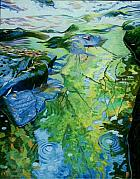 Diebenkorn Paintings - .Lyric Pool and White Water by James Burpee