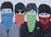 The Beatles George Harrison Paintings - Lyrical Gangsters by Austin James