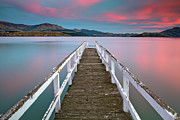 Christchurch Framed Prints - Lyttelton Harbour Jetty Framed Print by Tommy Perkins Jommy Photos