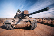 M60 Tank Prints - M-60 Battle Tank In Motion Print by Stocktrek Images