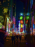 Times Square Digital Art Acrylic Prints - m and m store NYC Acrylic Print by Jeff Breiman