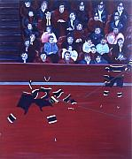Hockey Paintings - M C by Yack Hockey Art