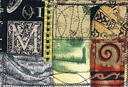 Fabric Mixed Media - M is for Many by Jann Sage