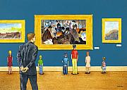Gallery Art Paintings - M is for Museum... by Will Bullas