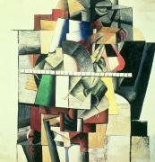 Cubism Paintings - M Matuischin by Kazimir Severinovich Malevich
