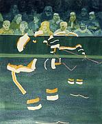 Hockey Paintings - M N S by Yack Hockey Art