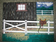 Stable Painting Originals - M T Saddle  by Jeffrey Koss