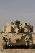 Self View Posters - M109 Paladin, A Self-propelled 155mm Poster by Terry Moore
