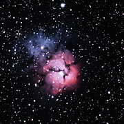 Nebula Framed Prints - M20, The Trifid Nebula Framed Print by A. V. Ley