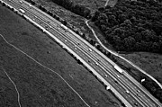 Land Vehicle Prints - M25 Motorway/highway From Air Print by Photo by Stuart Gleave