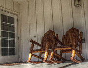 Rocking Chairs Photos - Ma and Pa Chairs by Cindy Nunn