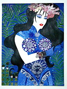 Sequins Mixed Media Prints - MA BELLE SALOPE CHINOISE No.11 Print by Dulcie Dee