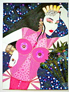 Sequins Mixed Media Prints - MA BELLE SALOPE CHINOISE No.12 Print by Dulcie Dee