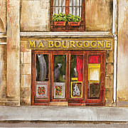 Bistro Painting Metal Prints - Ma Bourgogne Metal Print by Debbie DeWitt