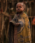 Tribal Framed Prints - Maasai Boy Framed Print by Adam Romanowicz