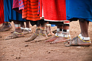 Tribe Photos - Maasai Feet by Adam Romanowicz