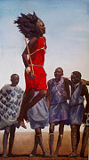 Maasai Painting Originals - Maasai II by Tessa Broek