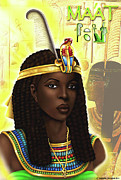 Hathor Digital Art Metal Prints - Maat  Metal Print by Emhotep Richards