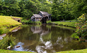Most Photo Posters - Mabry Mill and Pond Poster by Lori Coleman