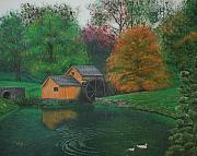 Mabry Paintings - Mabry Mill by Christopher Keeler Doolin