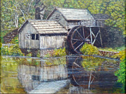 Landscape Posters Framed Prints - Mabry Mill Framed Print by David Tabor