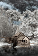 Rustic Mill Framed Prints - Mabry Mill in infrared. Framed Print by Jill Battaglia