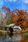 Water Reflections Photos - Mabry Mill in the Autumn by Jill Battaglia