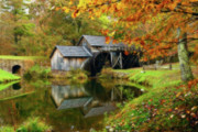 Jonas Wingfield Metal Prints - Mabry Mill Metal Print by Jonas Wingfield