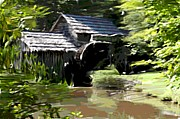 Mills Mixed Media - Mabry Mill by Mark Stidham