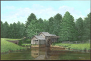 Mabry Mill Paintings - Mabry Mill Summer by Phil Christman