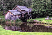 Grist Mill Art - Mabry Mill by Wade Aiken