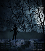 Edgar Allan Poe Photos - Macabre by Lourry Legarde