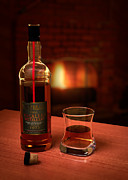 Glass Photo Posters - Macallan 1973 Poster by Adam Romanowicz