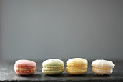 Colored Background Prints - Macarons Print by Shawna Lemay