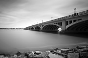 Exposure Digital Art Prints - MacArthur Bridge To Belle Isle Detroit Michigan Print by Gordon Dean II