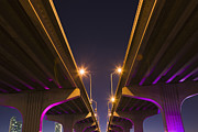 Development Of Life Photos - Macarthur Causeway Seen From Underneath At Dusk by Juan Silva