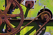 Machinery Photo Framed Prints - Machinery gears  Framed Print by Garry Gay