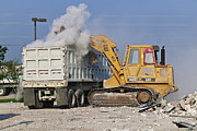 Loader Photos - Machines Clearing Debris by Jeremy Woodhouse
