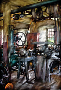 Metalworker Framed Prints - Machinist - Many old machines  Framed Print by Mike Savad