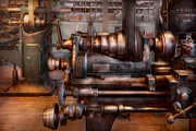 Old Mill Scenes Photos - Machinist - Steampunk - 5 Speed Semi Automatic by Mike Savad